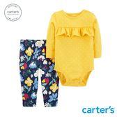 Carter's 台灣總代理  荷葉花卉印圖2件組套裝