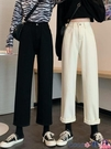 熱賣牛仔褲 春裝2021新款白色高腰顯瘦直筒寬鬆牛仔褲女休閒闊腿垂感老爹褲子 coco
