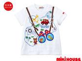 MIKI HOUSE 日本製 普奇熊主題款短袖T恤(藍白)