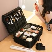 化妝包女大容量便攜ins風超火手提旅行收納箱品專業化妝師跟妝盒 創意空間