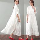 洋裝-改良旗袍超仙甜美真絲蕾絲長裙/設計家 SQ983