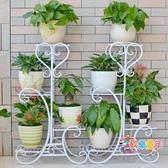 花架 鐵藝花架多層落地式陽台花盆架綠蘿花架子客廳簡約吊蘭花架幾T 3色