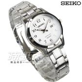 SEIKO精工 CS系列城市戀人腕錶 簡約大三針俐落時尚防水女錶 藍寶石水晶 SXDG89P1-7N82-0JK0X