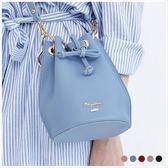 斜背包-skyblue自訂荔枝紋束口手提/斜背包-共5色-A17172326-天藍小舖