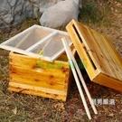蜂箱蜜蜂蜂箱全套煮蠟巢礎巢框蜂巢蜂箱養蜂工具標準杉木中蜂蜂箱xw