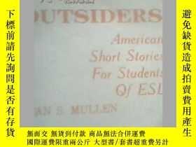 二手書博民逛書店OUTSIDERS---門外漢罕見第二外語學生用 美國短篇故事Y