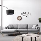 乳膠布藝沙發北歐組合客廳轉角貴妃三人沙發簡約現代小戶型家具wy 快速出貨