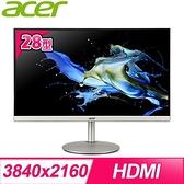 【南紡購物中心】ACER 宏碁 CB282K 28型 IPS 4K HDR專業螢幕