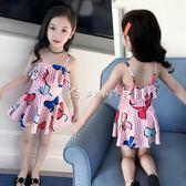 女童泳衣 兒童泳衣女游泳衣連體公主裙式寶寶泳衣可愛女童泳衣幼兒中大 多色小屋