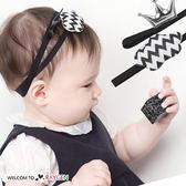 超萌黑白雲朵皇冠造型兒童髮帶 髮飾