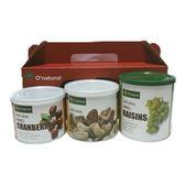 歐納丘暢銷果乾3入禮盒(蔓越莓乾.綜合堅果.葡萄乾)