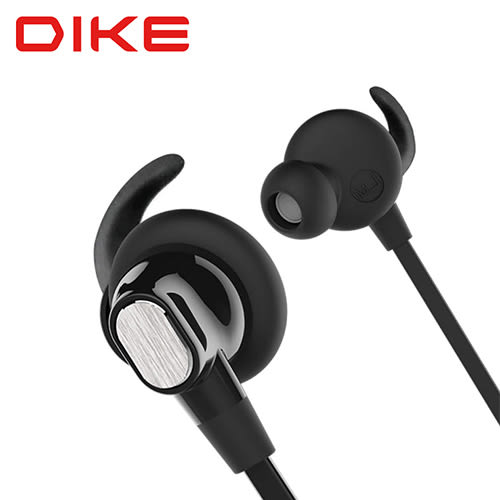 【DIKE】簡約風運動藍牙耳機麥克風/黑(DEB201)