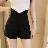 促銷全場九折 褲子女年流行夏季新款時尚韓版超高腰顯瘦百搭闊腿黑色短褲潮