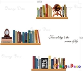 壁貼【橘果設計】書架 DIY組合壁貼/牆貼/壁紙/客廳臥室浴室幼稚園室內設計裝潢