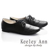 ★零碼出清★Keeley Ann學院物語~真皮經典雕花低跟牛津鞋(黑色)