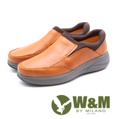 W&M 直套式增高厚底男皮鞋-卡其(另有黑)