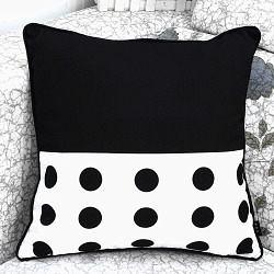 歲末清倉~時尚可愛點點 印花沙發靠枕 抱枕 腰枕 靠背墊 (45x45cm不含枕心)