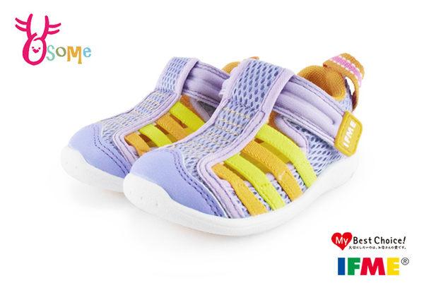日本IFME水涼鞋 小童鞋 機能運動鞋 N7658#紫色◆OSOME奧森童鞋