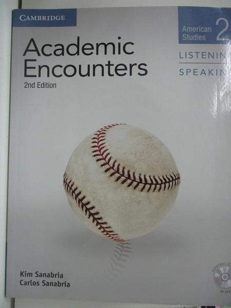 【書寶二手書T1/語言學習_EHR】Academic Encounters Level 2 Student s Book Listening…