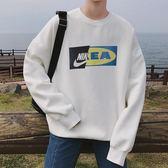 新款ins超火的衛衣寬鬆休閒潮流男士衣服韓版秋季外衣男外套男裝