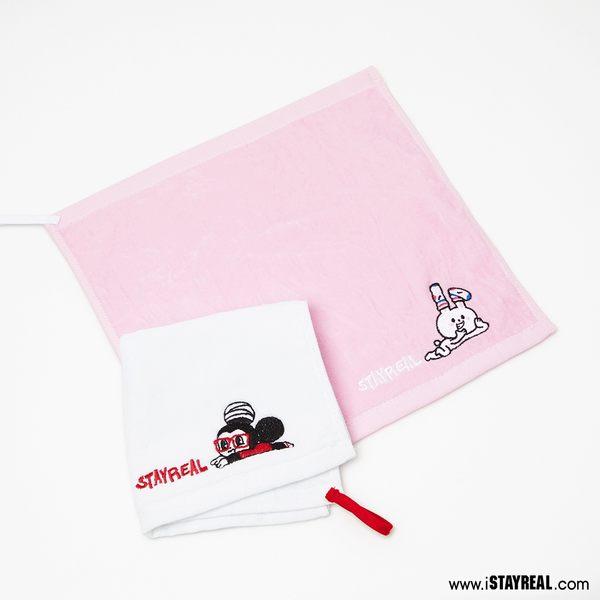 STAYREAL 鼠小小&兔仔子 方巾