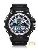 韓版防水電子手錶男學生戶外運動特種兵多功能戰術網紅手錶