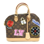 LOUIS VUITTON LV 路易威登 原花手提包斜背兩用包Alma PM Patches M4399【BRAND OFF】