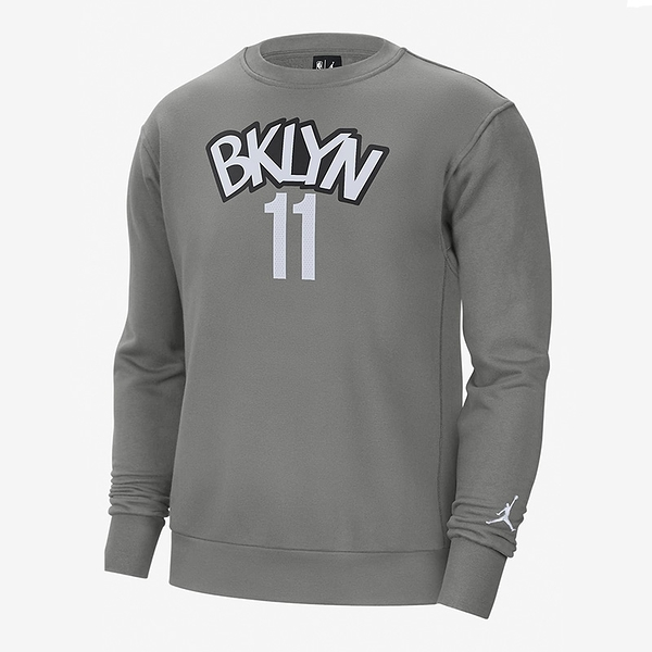 Nike 男 NBA 布魯克林 籃網隊 Kyrie Irving 灰 保暖 籃球 長袖 上衣 CN1035-002
