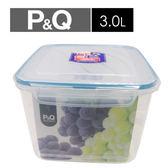樂扣樂扣 P&Q方型保鮮盒-藍蓋(3L)【愛買】