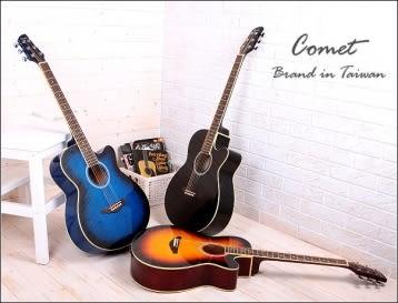 【Comet 木吉他 / C190】(附琴袋、PICK×2、移調夾、背帶】  Comet C-190   切角民謠吉他