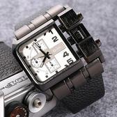 手錶新品潮流大盤手錶歐美嘻哈風格創意概念手錶潮表3364 卡布奇诺