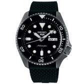【台南 時代鐘錶 SEIKO】精工 5 Sports 系列機械錶 SRPD65K2@4R36-07G0K 黑 42.5mm