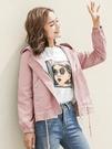 全館83折 2018秋裝新款女風衣外套學院風長袖韓版學生修身連帽加棉短外套潮