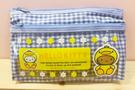 【震撼精品百貨】Hello Kitty 凱蒂貓~Hello Kitty日本SANRIO三麗鷗KITTY化妝包/筆袋-格子小雞*85575