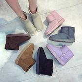 短靴新品雪地靴女中筒短靴保暖防滑女鞋大尺碼加厚保暖學生棉鞋加絨刷毛棉靴子潮