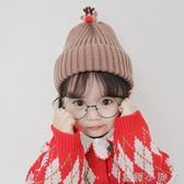 兒童毛線帽針織可愛男女套頭帽卡通DIY保暖帽子春秋冬季寶寶帽潮 蘿莉小腳ㄚ