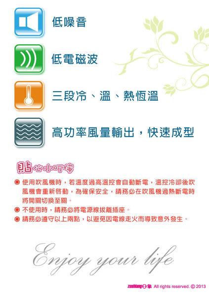 【艾來家電】【刷卡分期零利率+免運費】ZOD-560日象菁采三段恆溫吹風機