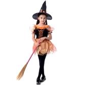 萬聖節兒童服裝cos巫婆演出服飾女童網紗巫婆披風女巫婆套裝衣服