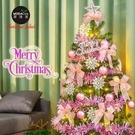 摩達客5尺特仕幸福型綠色聖誕樹粉紅佳人系配件+LED100燈暖白光*1浪漫粉紅佳人系+暖白