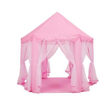 遊戲帳篷公主城堡女孩粉色室內玩具兒童帳篷游戲屋過家家分床神器城堡igo 貝兒鞋櫃