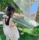 女童連身裙夏裝兒童中大童洋氣無袖露背公主裙【時尚大衣櫥】