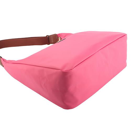 LONGCHAMP 經典尼龍弧形大肩側背兩用包(糖粉色)480136-610