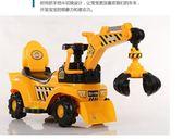 遙控車兒童電動滑行挖掘機男孩玩具車挖土機可坐可騎大號學步鉤機工程車      萌萌小寵igo