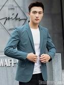 休閒西裝外套男春夏輕薄款修身商務韓版潮上衣單件青年帥氣小西服 印象家品