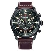 CITIZEN 三眼飛行者光動能計時時尚腕錶CA4218-14E