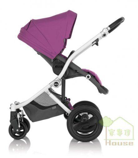 {家事達} Britax-Affinity 雙向手推車 --紫色   英國原裝進口-360度旋轉