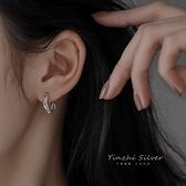 S925純銀耳扣耳環女2020年新款潮小眾設計感高級耳釘耳圈耳飾2021【快速出貨】