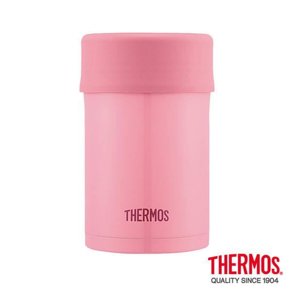 全新福利品 限量5組 THERMOS膳魔師 不鏽鋼真空食物燜燒罐0.5L-粉桃色JBN-500-PCH