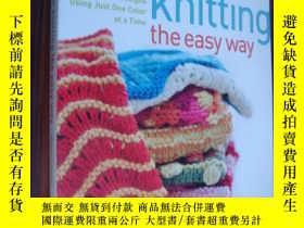 二手書博民逛書店Color罕見knitting the easy way 彩色編