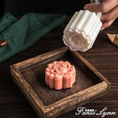 美滌立體蓮花月餅模具荷花冰皮綠豆糕模流心烘焙不粘模型印具家用 范思蓮恩
